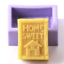 Home Sweet Home Silicona Jabón Molde r0728 libre de envío