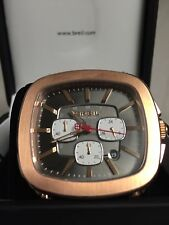 Breil TW1316 Men Wrist Watch Leather Band Chronograph with Rose Gold Case