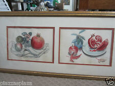 Anthony LaPaglia (1897-1993) NY signed 1966 pair of still life watercolors EC!