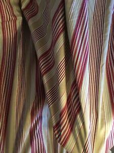 Laura Ashley Ripley stripe curtains, 90 inch drop