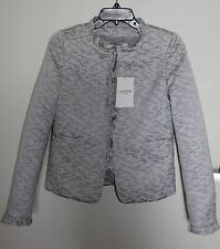 VALENTINO ROMA Ruffle Trim Appliqued Blazer Jacket Size 40, 4 (US) NWT