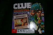 Clue Carnival - Case of the Missing Prizes - 2009 Board Game Hasbro - Unpunched!