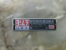 Aufkleber Sticker aus Alu Motorradsport Yoshimura Racing