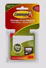 3M Command Picture & Frame Hanging Strips 6 Medium Sets Multi Purpose 17204 New!