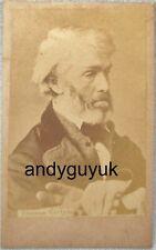 Cdv Thomas Carlyle Historian Writer Philosopher Mathematician Antique Photo Card