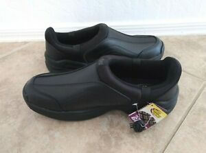 SHOES FOR CREWS Eastside Slip & Oil Resistant Slip On Men's Leather Shoes 9.5