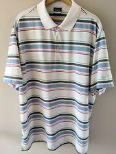 Nike Golf Men's Dri-Fit Striped Short Sleeve Polo Shirt Sz 2Xl
