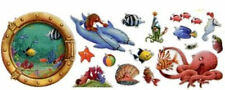 Fish Circus Wallpaper Cut-outs  17 Different Cut-Outs on a Solid Sheet   KZ1071C