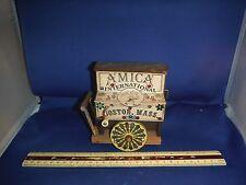 Unusual Vintage Reuge Amica Of Boston 1989 Crank Organ Cart Music Box