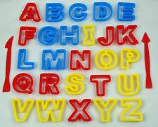29 tlg. SET Buchstaben Ausstecher Alphabet mit Box - Tortendeko Marzipan Fondant