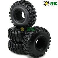 4 Stück 1.9'' Crawler Reifen Tires 108mm für 1/10 RC 4WD Axial 1.9 Beadlock Rims