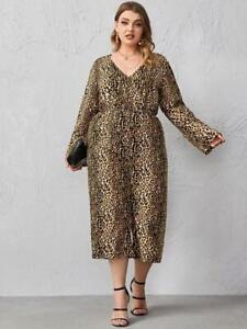 NEW.Sassy Plus Size Animal Print Capri Length Jumpsuit Romper..2XL/SZ18