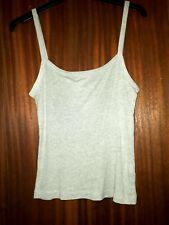 Grey marl cotton camisole vest top, topshop, size 8