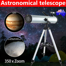 AU Astronomical Telescope 114mm Aperture 350x Zoom with Tripod