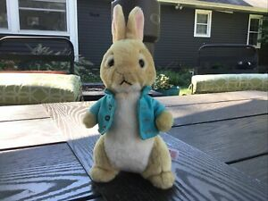 """TY Peter Rabbit Cotton Tail Plush Bunny About 9"""" With Shirt"""