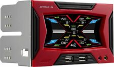 "AeroCool Strike X Panel Dual 5.25"" bay Touch Sensor Control Color LCD Red/Black"