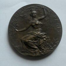 médaille penning bronze Exposition tentoonsteling PARIS 1900 Georges LEMAIRE