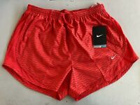 Nike Peak Tempo Womens Running Shorts Dry-fit  Red & Black