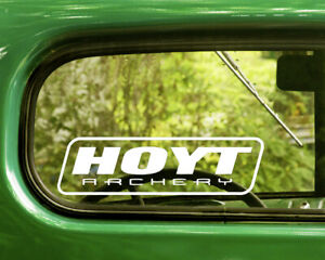 2 HOYT ARCHERY BOWS DECALs Sticker Bogo For Car Window Bumper Truck Jeep