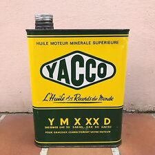 Ancien Bidon Huile YACCO Y SAE 20 Garage Moto Automobile Oil Can