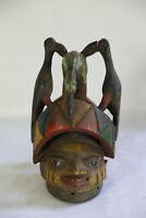 AM7 Yoruba alte Gelede Maske Afrika / Masque ancienne yorouba / Old tribal Mask
