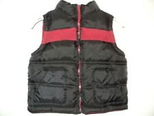 Gymboree Infant Boy's Size 12-24 Months Puffer Vest Black & Dark Red Zip Front