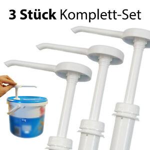 3 Stück Dosierpumpe Senfpumpe Ketchuppumpe Spender - für 5 Kg / 10 Kg Eimer