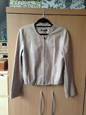 Helmut Lang Tan in Pelle Giacca Taglia M