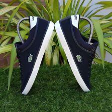 ❤ BNWB & Authentic Lacoste ® Angha Black Nubuck Leather Trainers UK Size 9.5