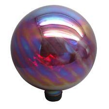 GARDEN TREASURES 11.8-IN RED BLOWN GLASS GAZING BALL GARDEN GLOBE SUN DECOR, NEW