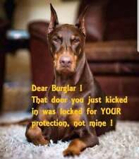 "Doberman dog refrigerator magnet 3 1/2"" x 4 1/2"""