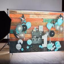 7x5ft Baby 1st Birthday Balloons Photography Background Photo Studio Backdrops