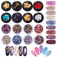 Candy Nail Art Sequins Foil Stickers Paper Irregular Paillettes Flake Decoration