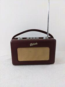 Roberts Revival R250 Radio AM / FM Portable Burgundy RETRO See Description