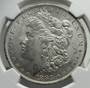 1883 UNITED STATES of America SILVER Morgan US Dollar Coin EAGLE NGC MS i80082
