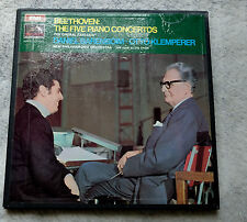 "BEETHOVEN ""FIVE PIANO CONCERTOS "" BARENBOIM/KLEMPERER  SLS941-4  MINT-"