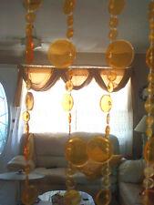 Acrylic Beaded Door Curtain Orange  Hanging Panel Window Room Divider Jazz beads