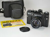 """RUSSIAN USSR """"ZENIT-12SD"""" SLR CAMERA + MC HELIOS-44m-6 lens WITH GUIDE (2)"""