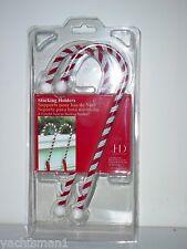 Candy Cane Christmas Stocking Holders Set of 2 ~ New