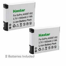 2x Kastar Battery for GoPro AHDBT-001 AHDBT-002 HD HERO1 HERO2 HD HERO