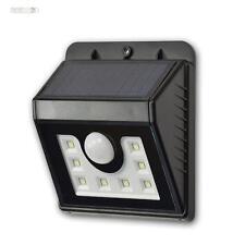 solaire LED Applique murale avec 8 LEDs,Détecteur de mouvement,Lampe solaire