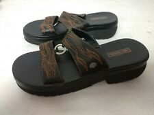 Harley Davidson HD Women Jodi Flame Sandals Clogs Slip On HD Metal Ring Size 9