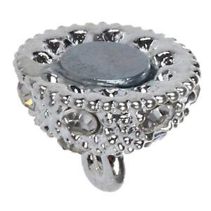 5 Stk. 10mm Kugel Magnetverschluss Strass Silber Farbe E2B1