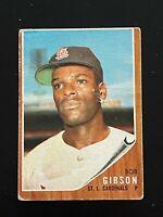 1962 Topps Bob Gibson High Number SP #530 St. Louis Cardinals