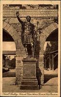Kastell-Saalburg b. Homburg 1929 Skulptur Kaiser Antonius Pius Burg Postkarte