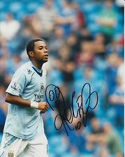 Manchester City mano firmato ROBINHO foto 10 x 8.