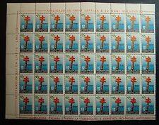 1955  XVIII° CAMPAGNA  ANTITUBERCOLARE - blocco di  45   valori