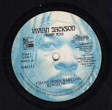 """ CHANT DOWN BABYLON KINGDOM."" yabby you. VIVIAN JACKSON 12in 1977."