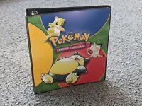 Vintage Pokemon Original Ring Binder Snorlax Folder WOTC Good Condition
