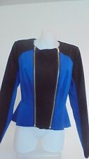 T by Bettina Liano Ladies Fully Lined Zip Up Jacket size 10 Colour Black / Blue